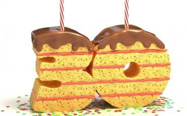 birthday cake for a thirtieth birthday or anniversary